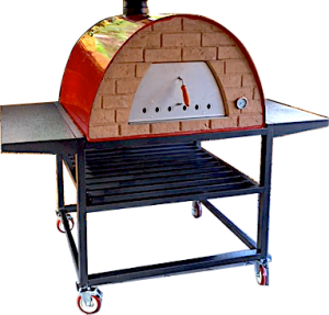 Portable oven with trolley maximus