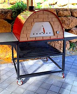 Large portable pizza oven MAXI Maximus with Trolley Stand
