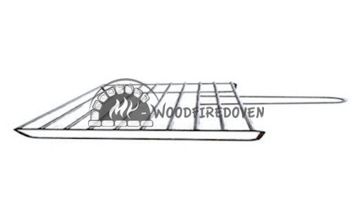 Grill rack for pizza oven